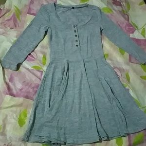 Gray Dress with Buttons
